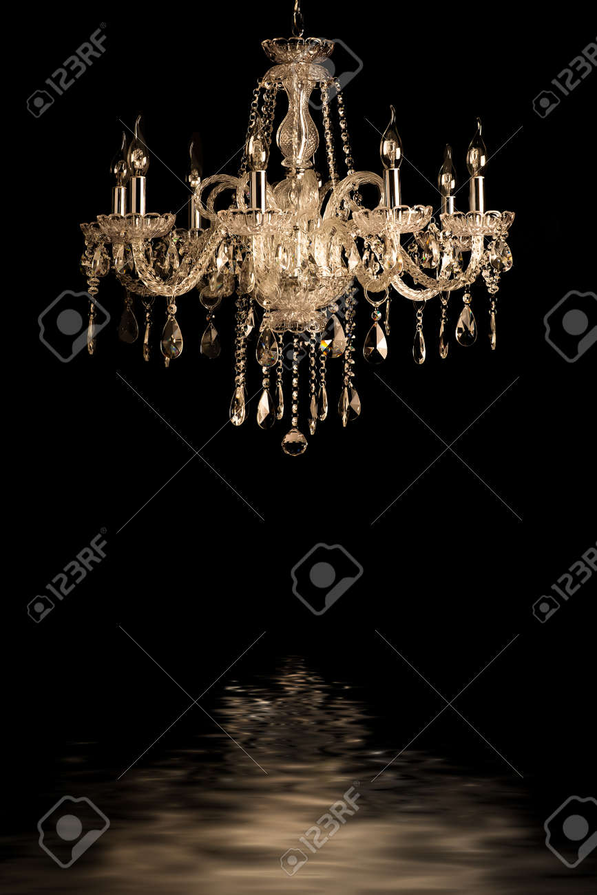 crystal chandelier contemporary glass chandelier isolated over black background stock photo background pink chandelier