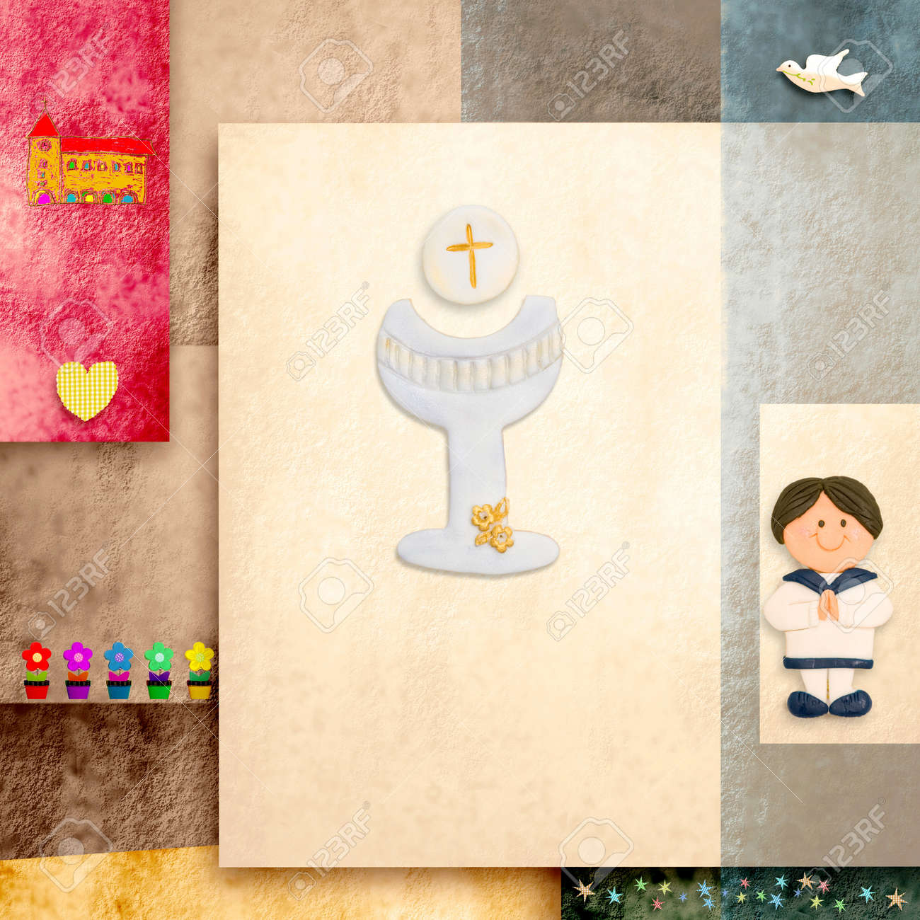 First holy communion invitation reminder sailor boy and blank first holy communion invitation reminder sailor boy and blank space for text stock photo stopboris Image collections