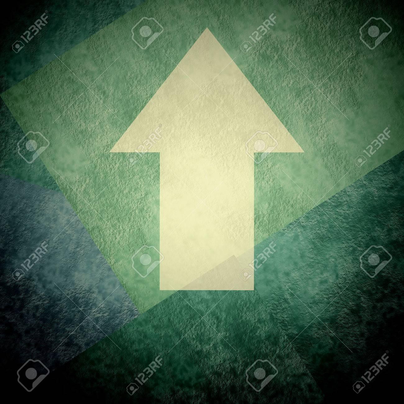 Dirección De La Flecha Hasta Firmar En Fondo Verde Sobre Fondo Verde ...
