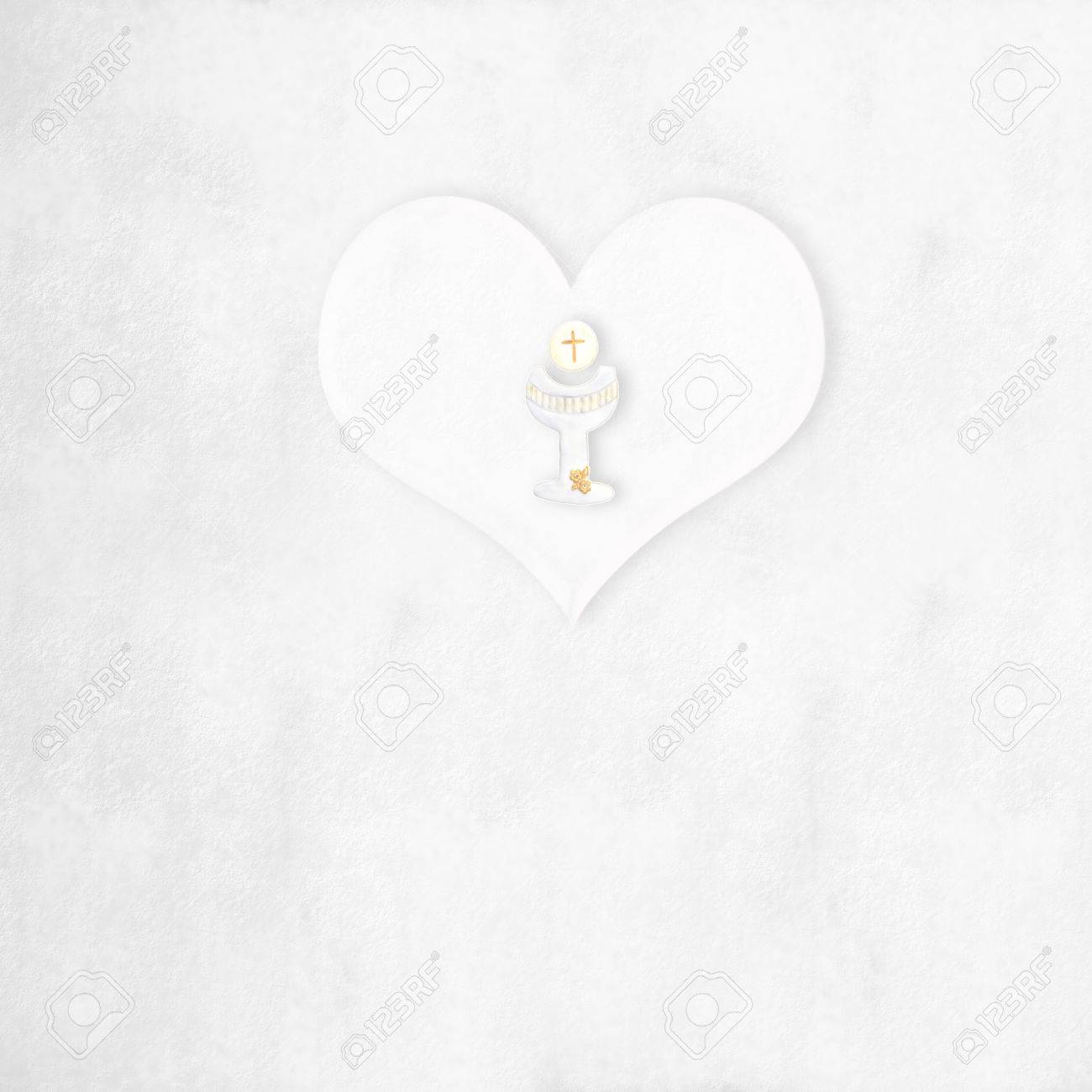 First communion greeting card background heart and calyx with first communion greeting card background heart and calyx with blank space stock photo 27334979 kristyandbryce Choice Image