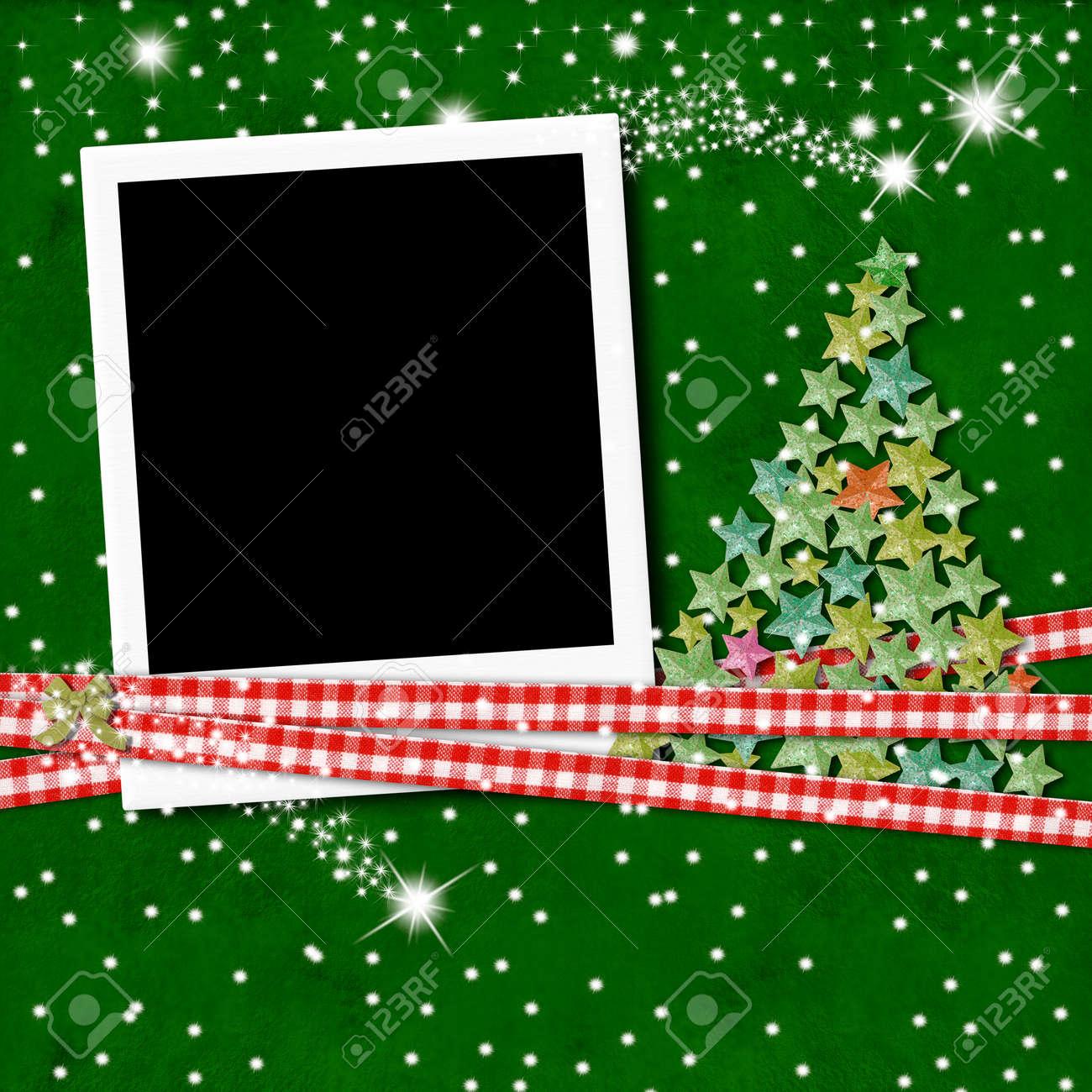 Weihnachts-Fotorahmen In Leere Für Scrapbooking Lizenzfreie Fotos ...