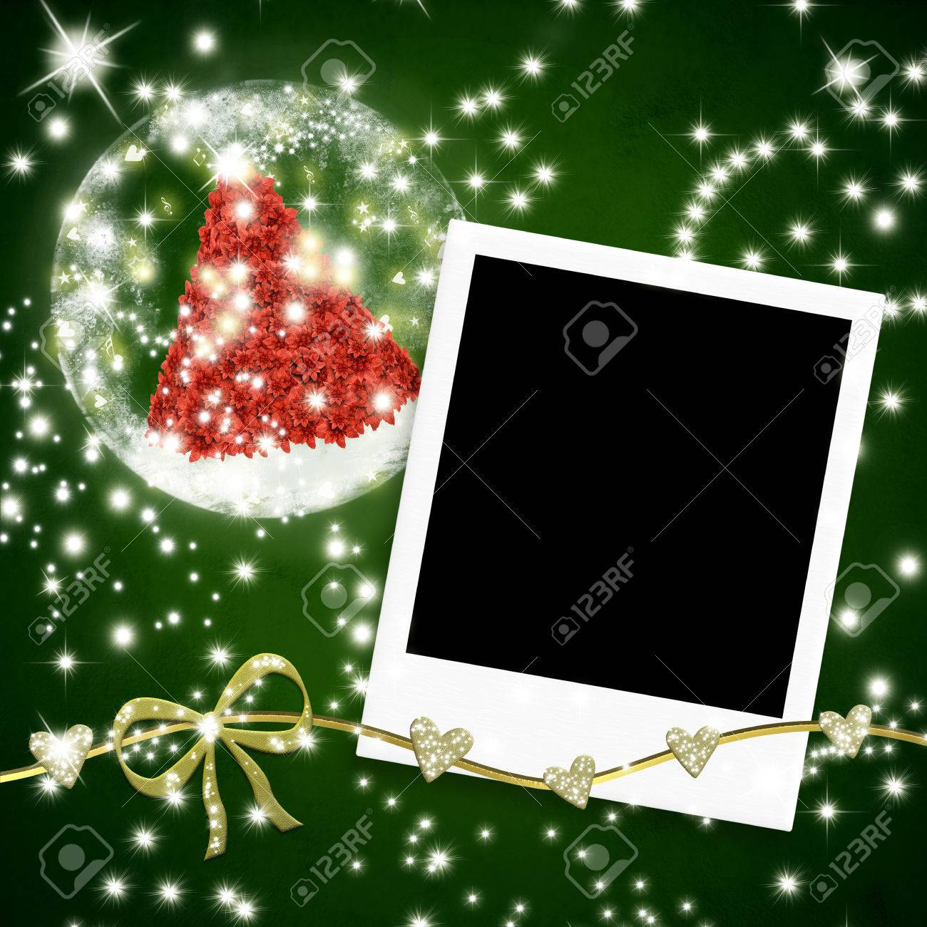 Christmas Cards Photo Frames, One Instant Photo Frame And Christmas ...