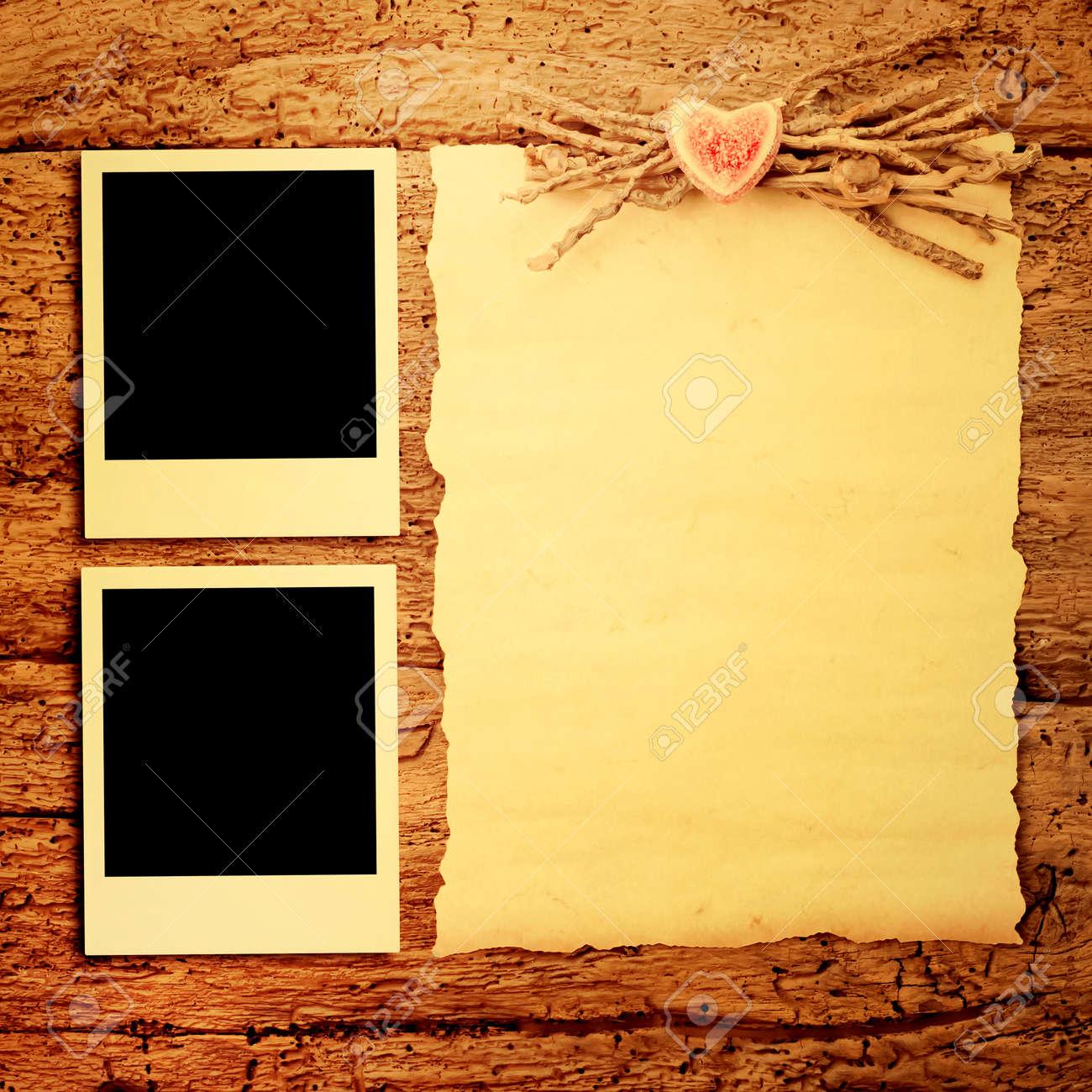 Karten Für Den Valentinstag Oder Hochzeit, Zwei Frames Für Die Fotos ...