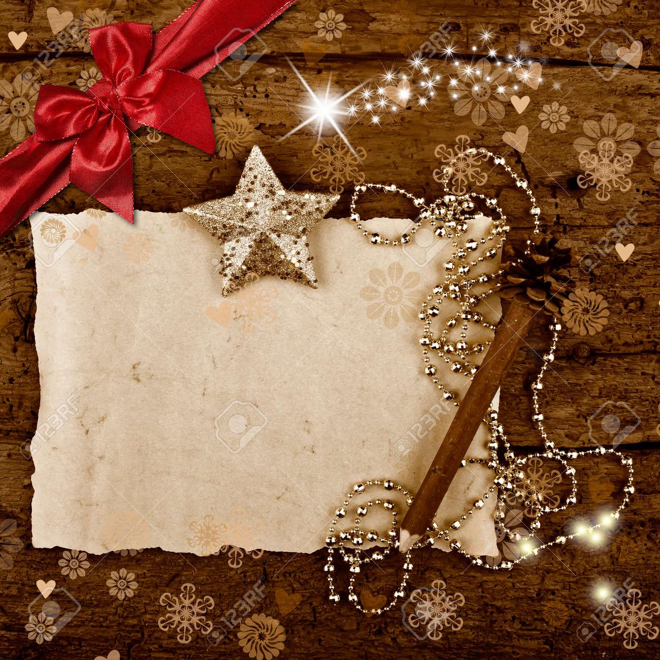 Tarjeta De Felicitación De Navidad Con Espacio En Blanco Para