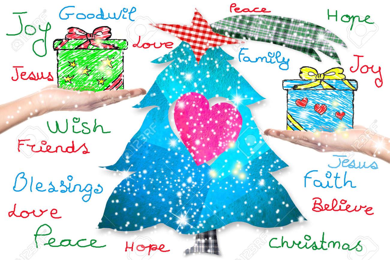 Weihnachtswünsche Für Kinder.Stock Photo