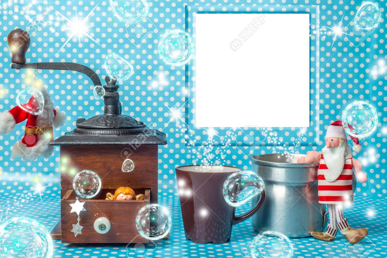Weihnachten Fotorahmen Zusammensetzung Grußkarte, Leeren Fotorahmen ...