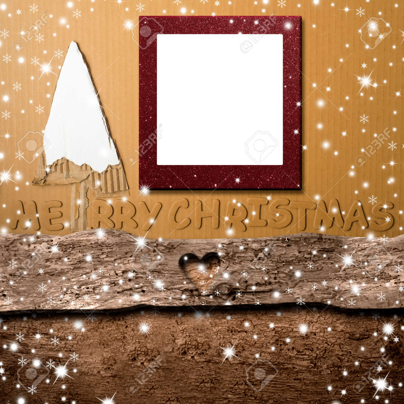 Weihnachten Fotorahmen.Stock Photo