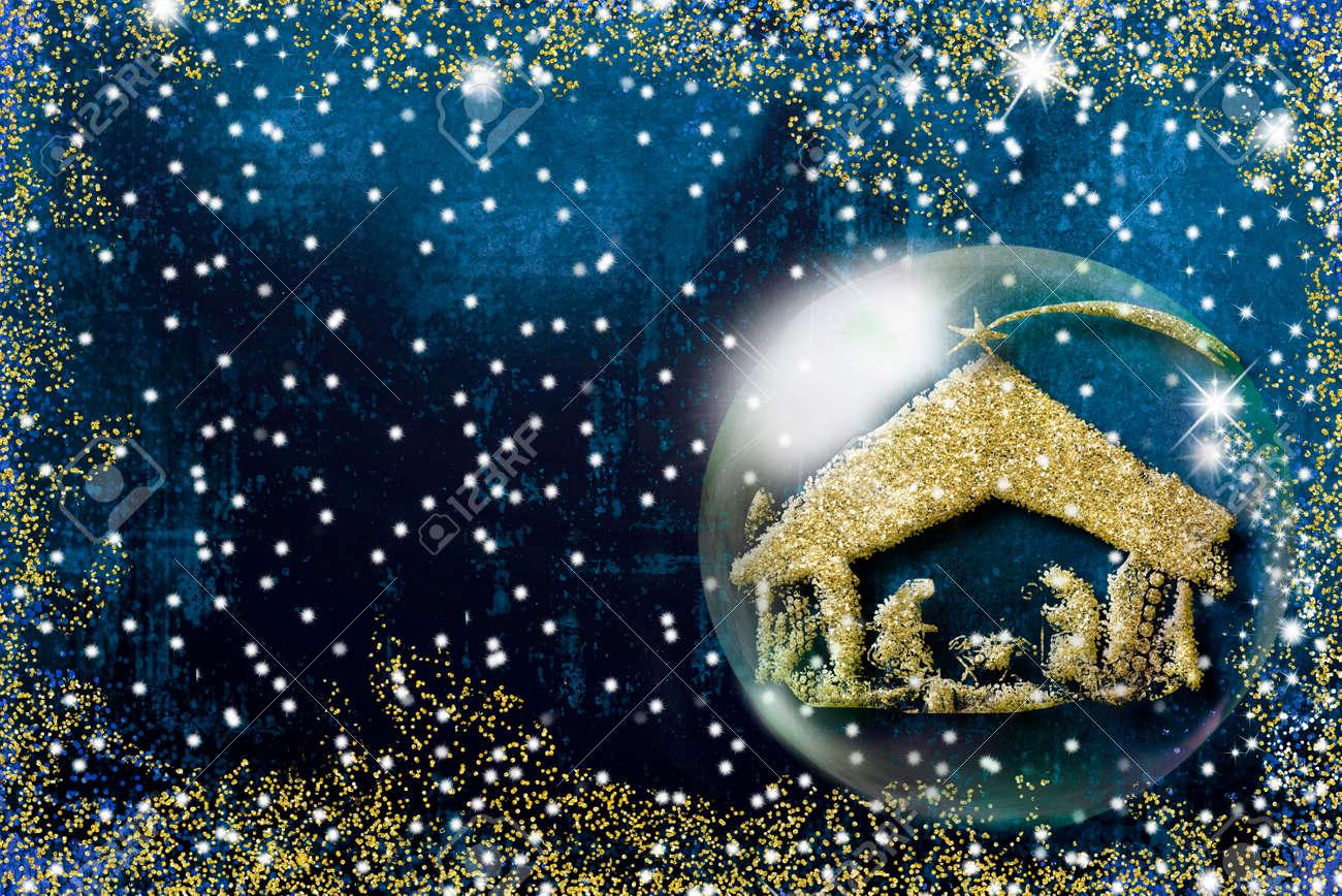 Auguri I Di Natale.Immagini Stock Cartolina D Auguri Di Natale Di Scena Di Nativita