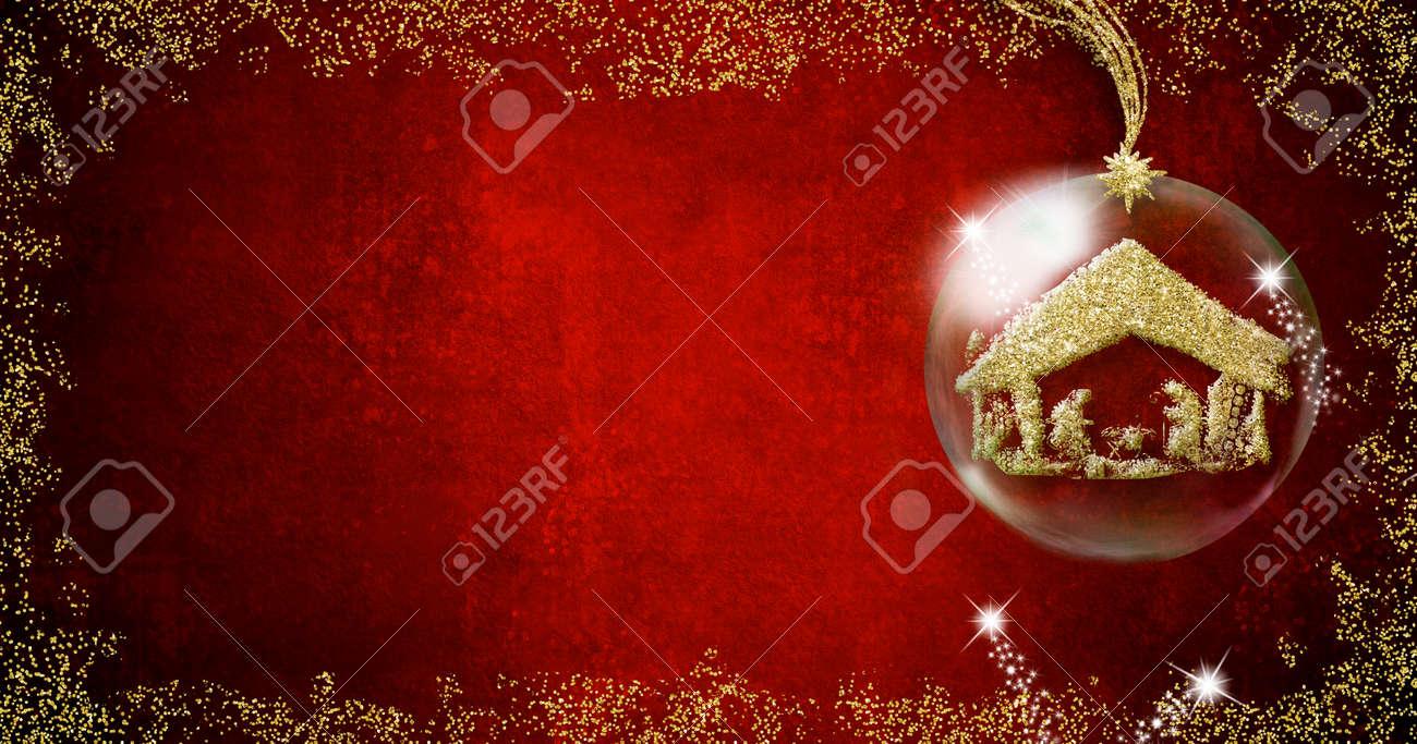 Fondo Para Escribir Las Tarjetas De Navidad Escena De La Natividad