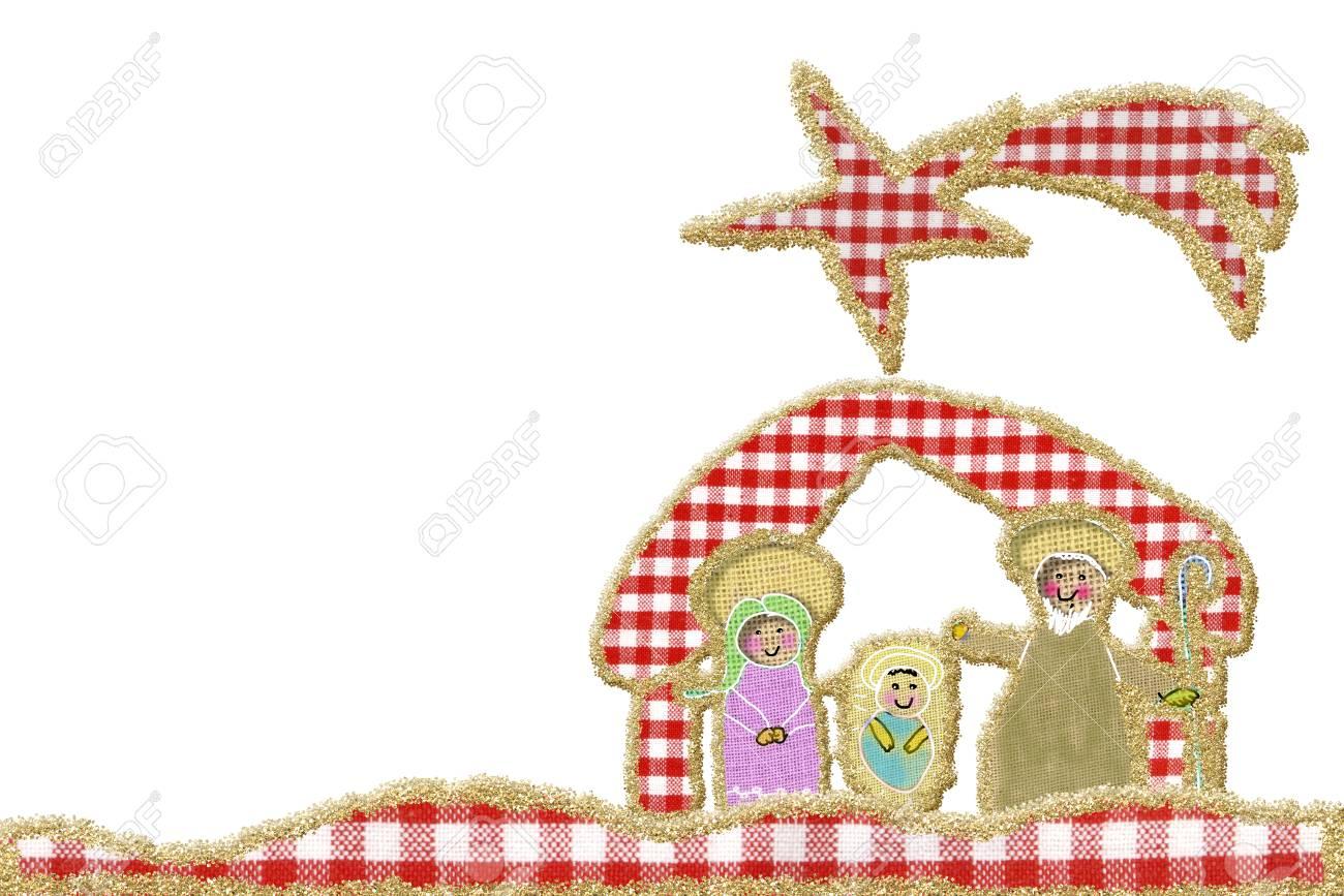 Immagini Stock Simpatico Biglietto Di Auguri Di Natale Natività