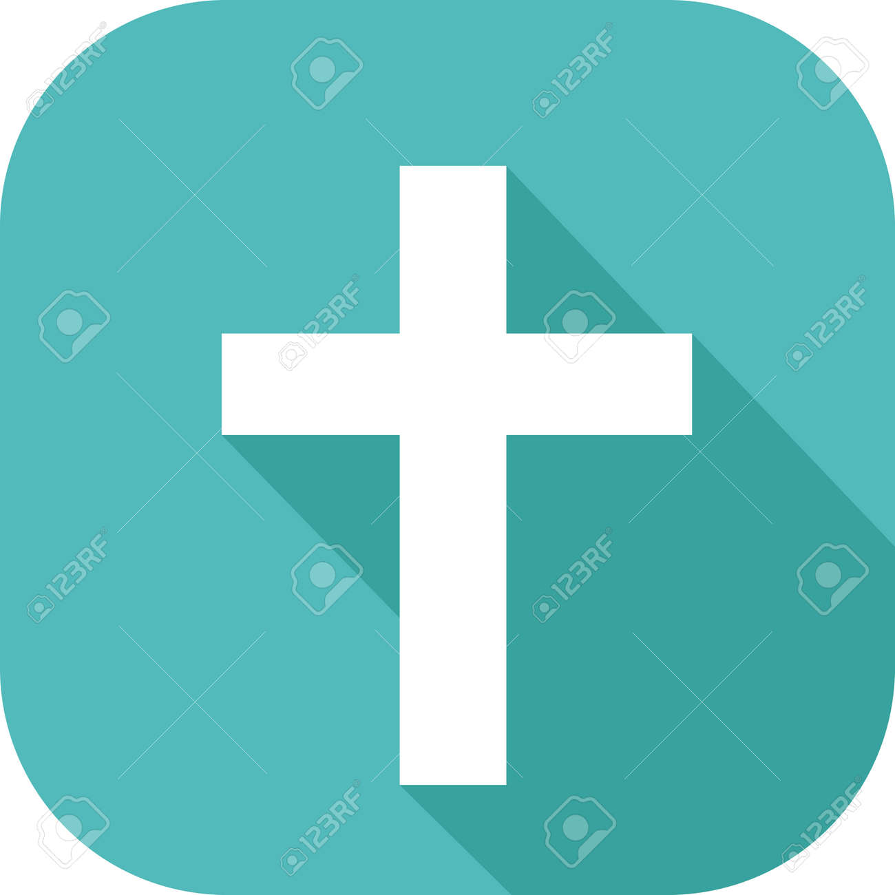 Icon Of A Cross Symbol Of The Religion Of Christianity Royalty Free