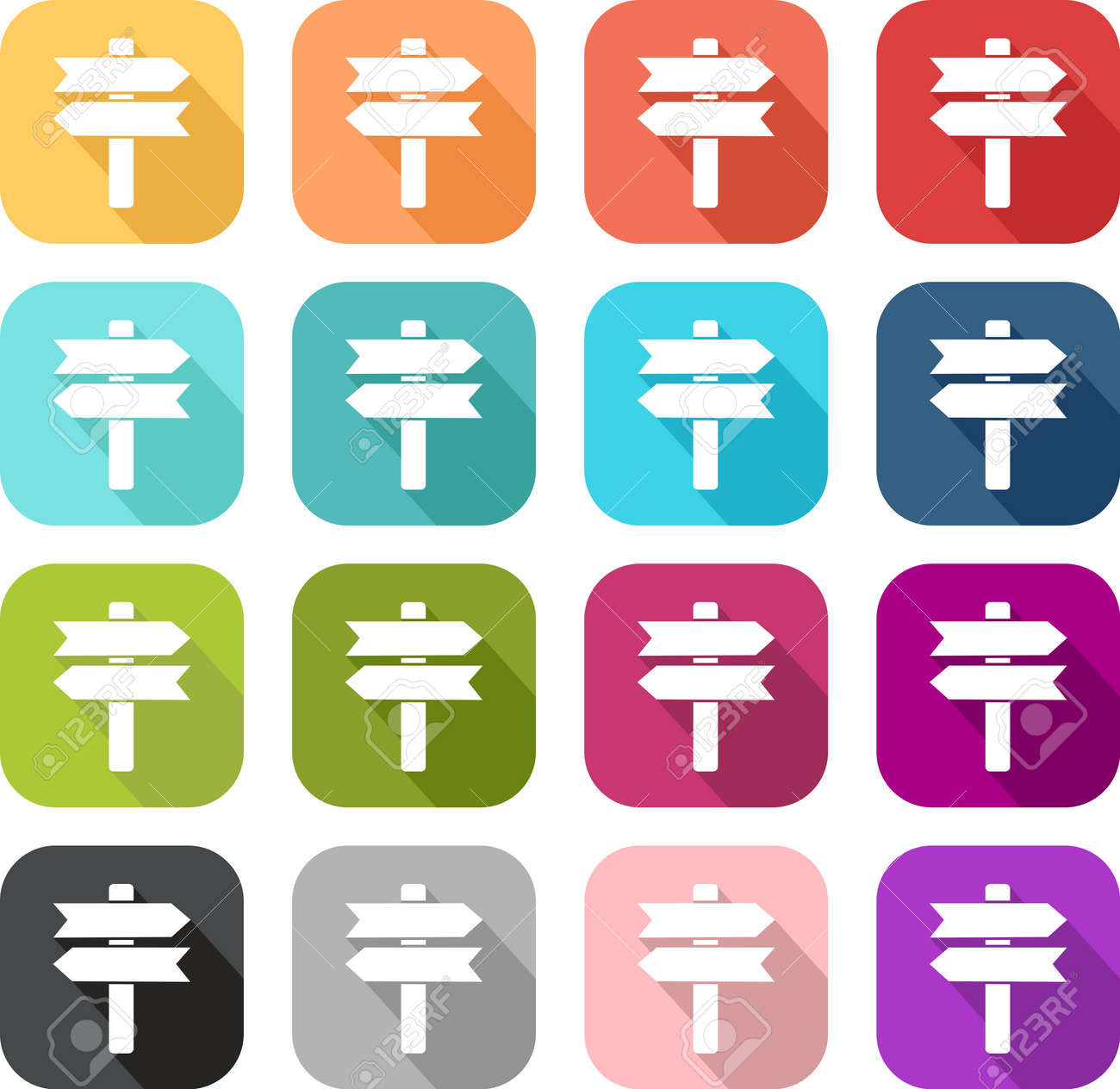Colored icons of a panel - 121748848