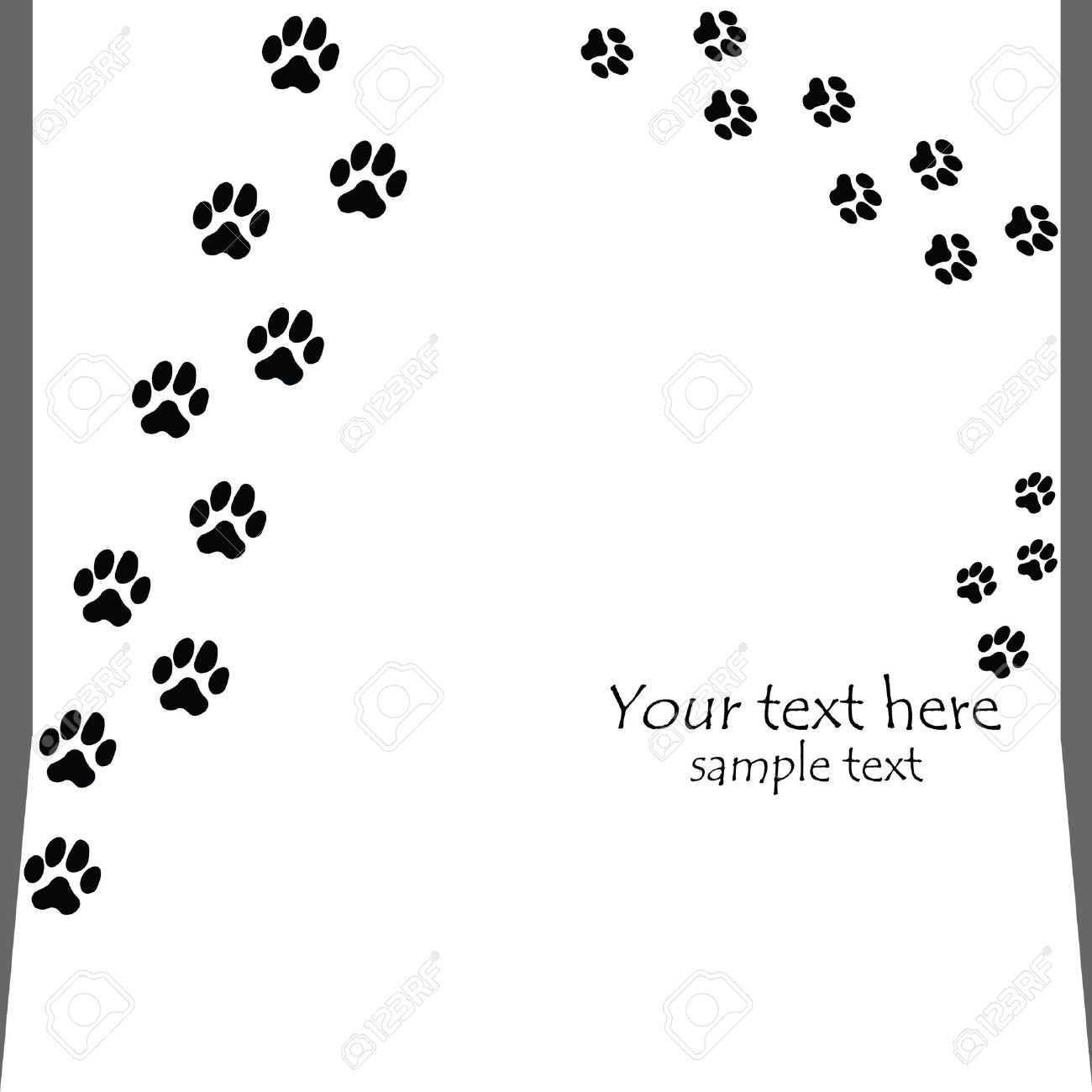 black seamless paw prints on white backgrounds - vector Stock Vector - 8276875