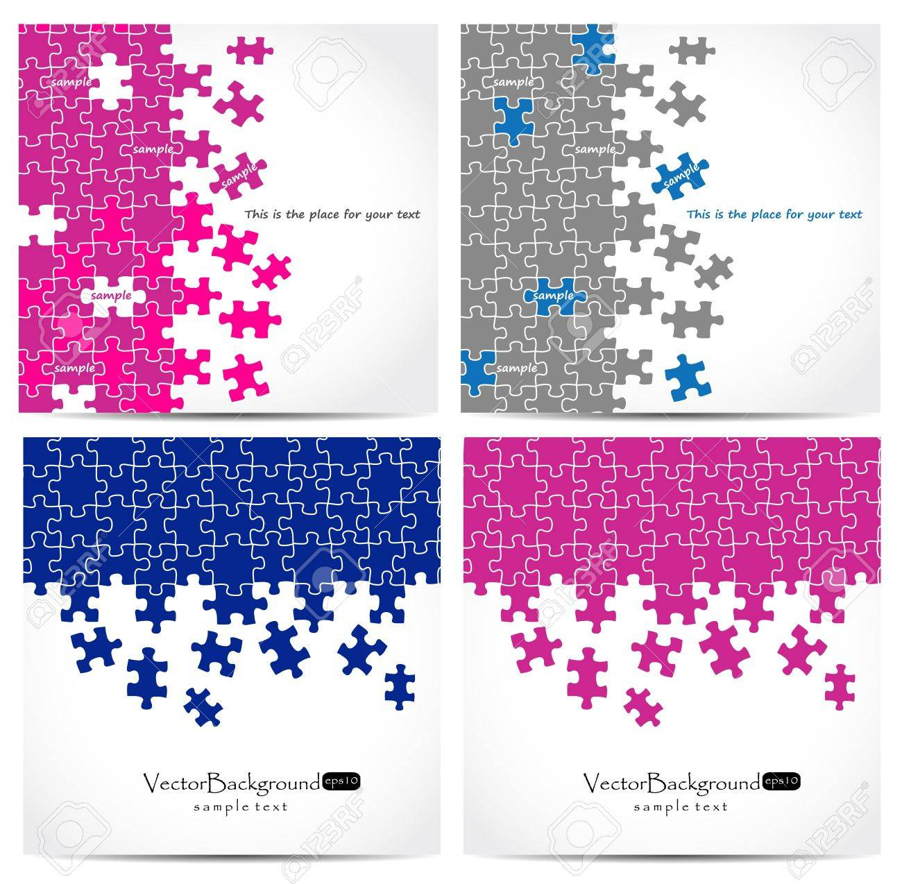 Set of puzzle vector design Stock Vector - 9932582