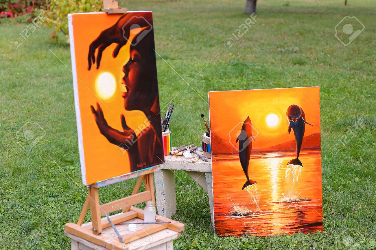 Pinturas Fotográficas Y De Bellas Artes Realizadas En Tonos Cálidos ...