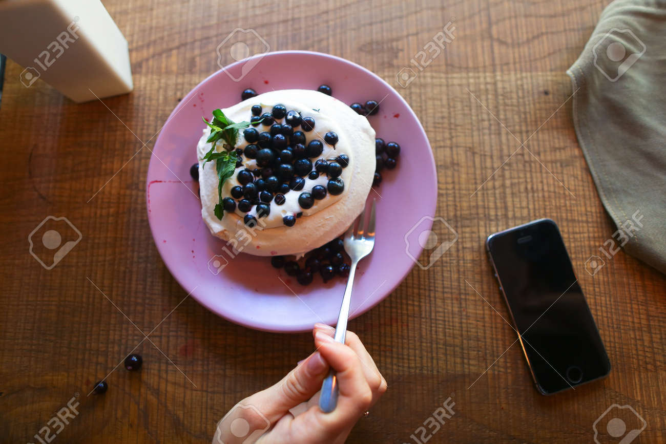 The Concept Of Food Photography Beautiful Dessert Cafe Restaurant Stock Photo Picture And Royalty Free Image Image 71865776