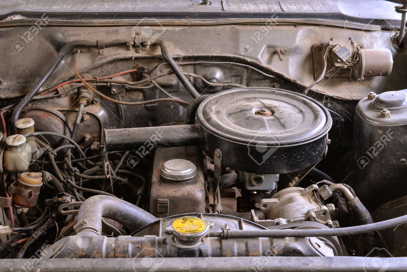 Old Car Engine Stock Photo, Picture And Royalty Free Image. Image ...