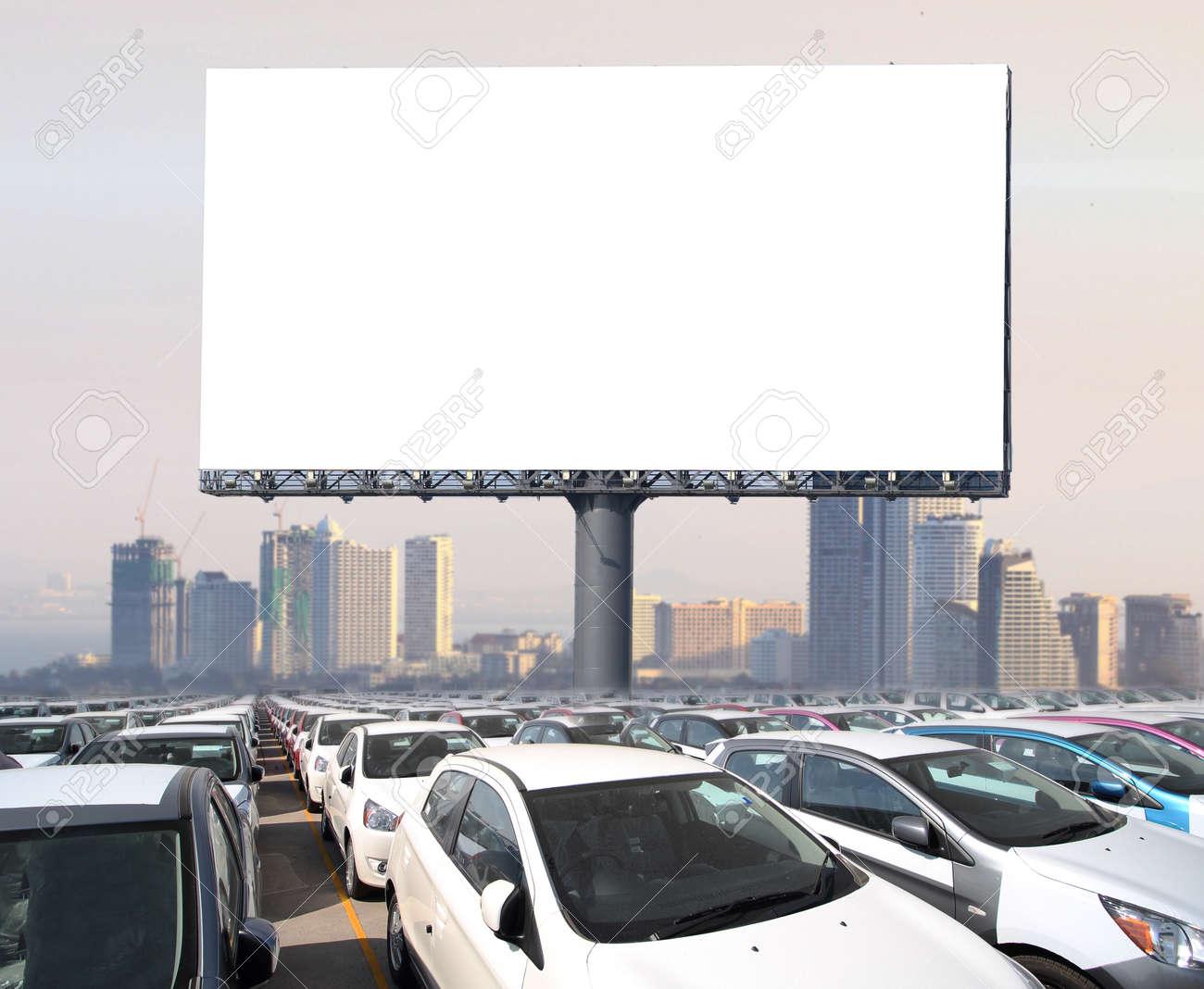 Blank billboard ready for new advertisement - 40644878