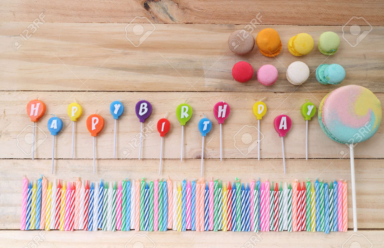happy birthday candles - 41334787