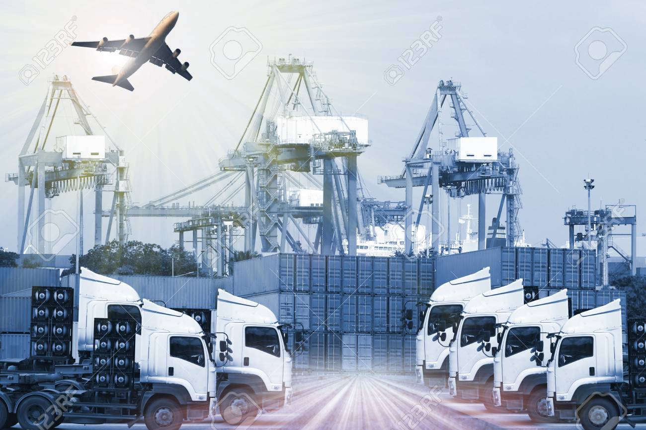 Industrial Container Cargo freight ship for Logistic Import Export concept - 62111284