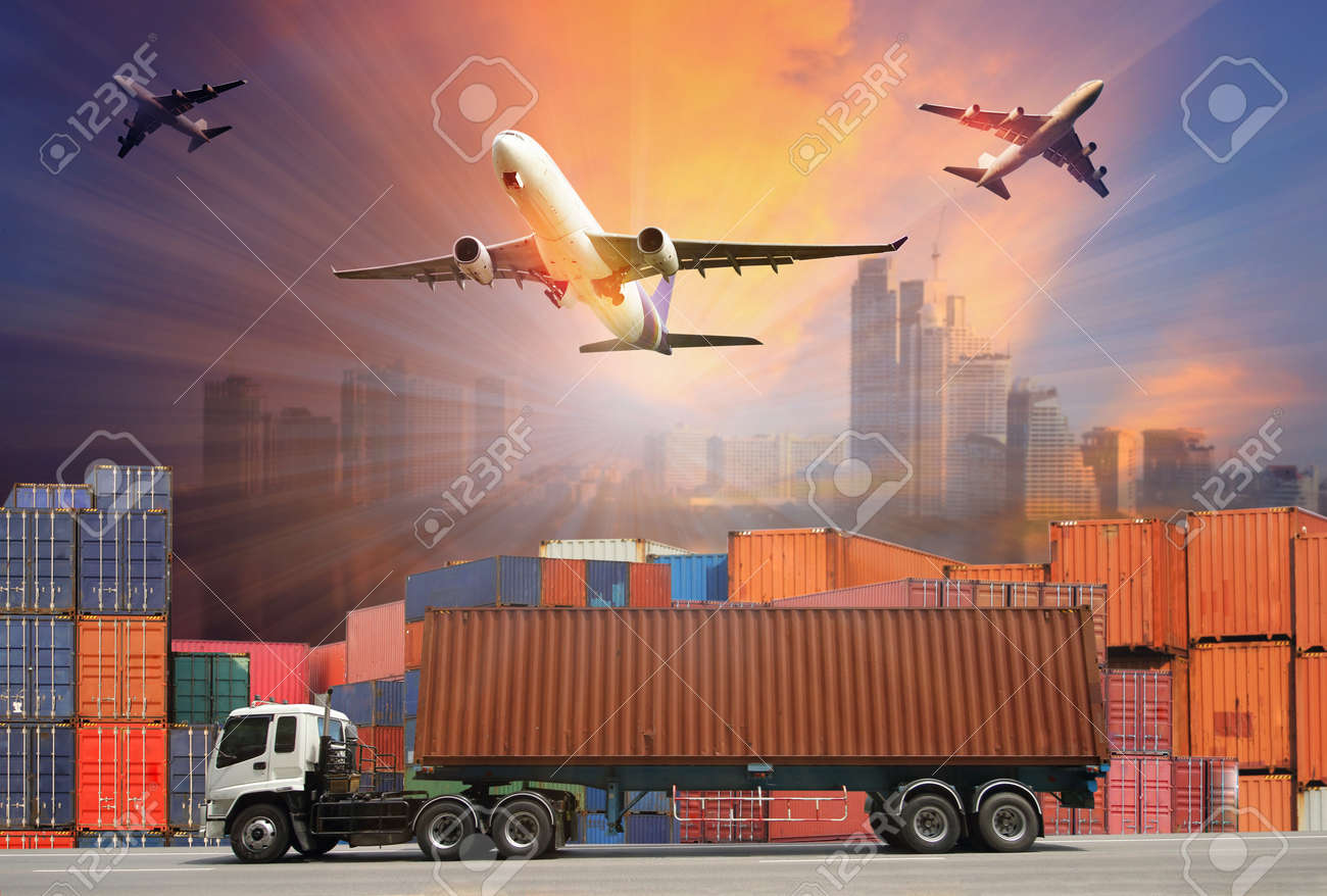 Industrial Container Cargo freight ship for Logistic Import Export concept - 62111330