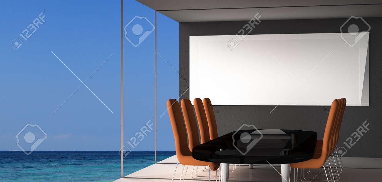 Moderne Bürokonferenzraum Interieur Mit Stilvollen Modernen Sesseln