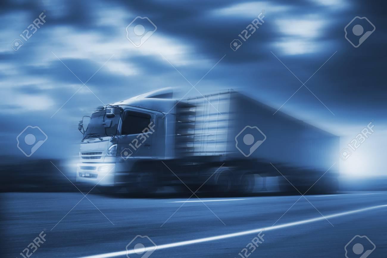 Truck run on road, transportation logistic concept - 94969417