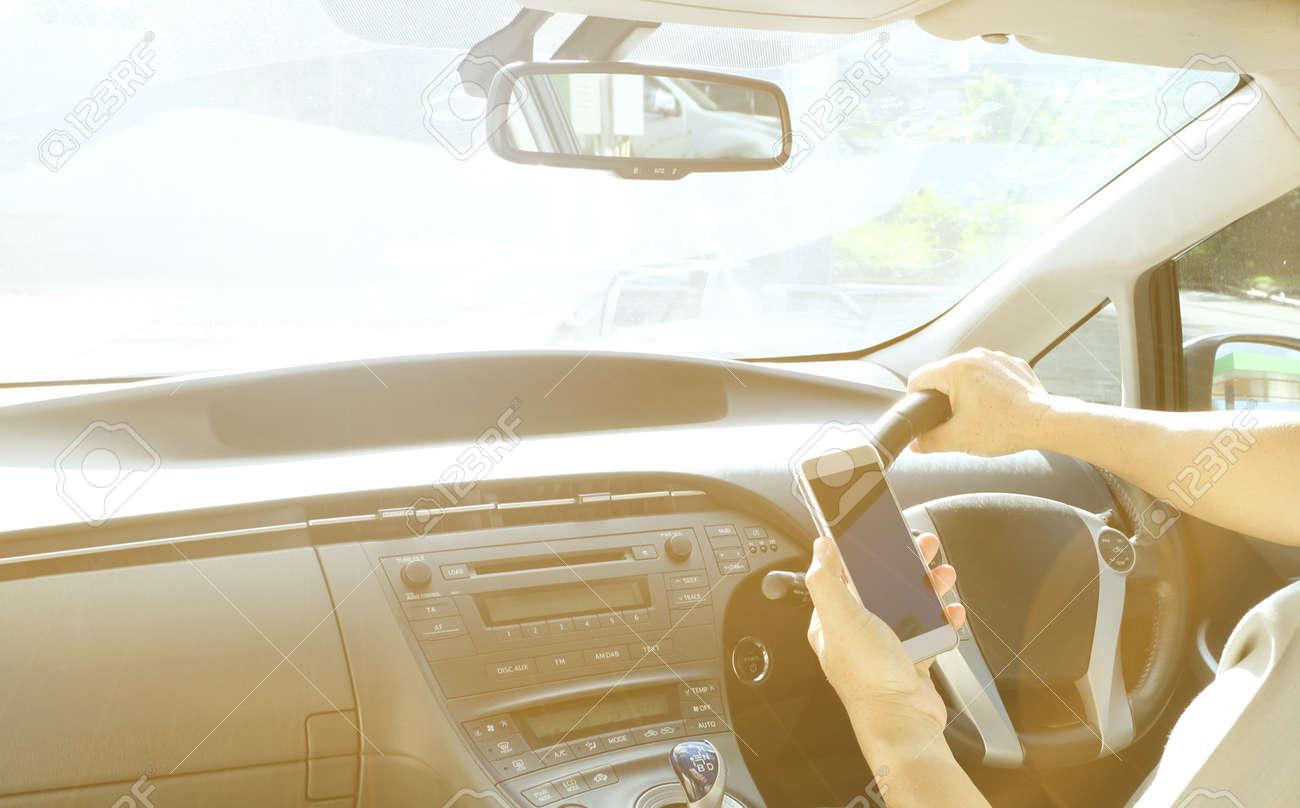 car interior with sunlight - 115595216
