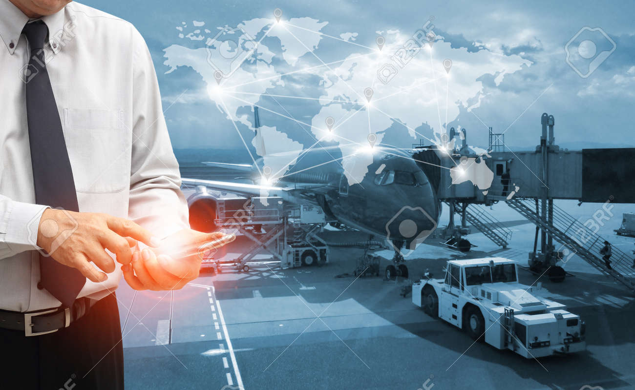 The world logistics background or transportation Industry or shipping business, Container Cargo shipment , truck delivery, airplane , import export Concept - 140796501