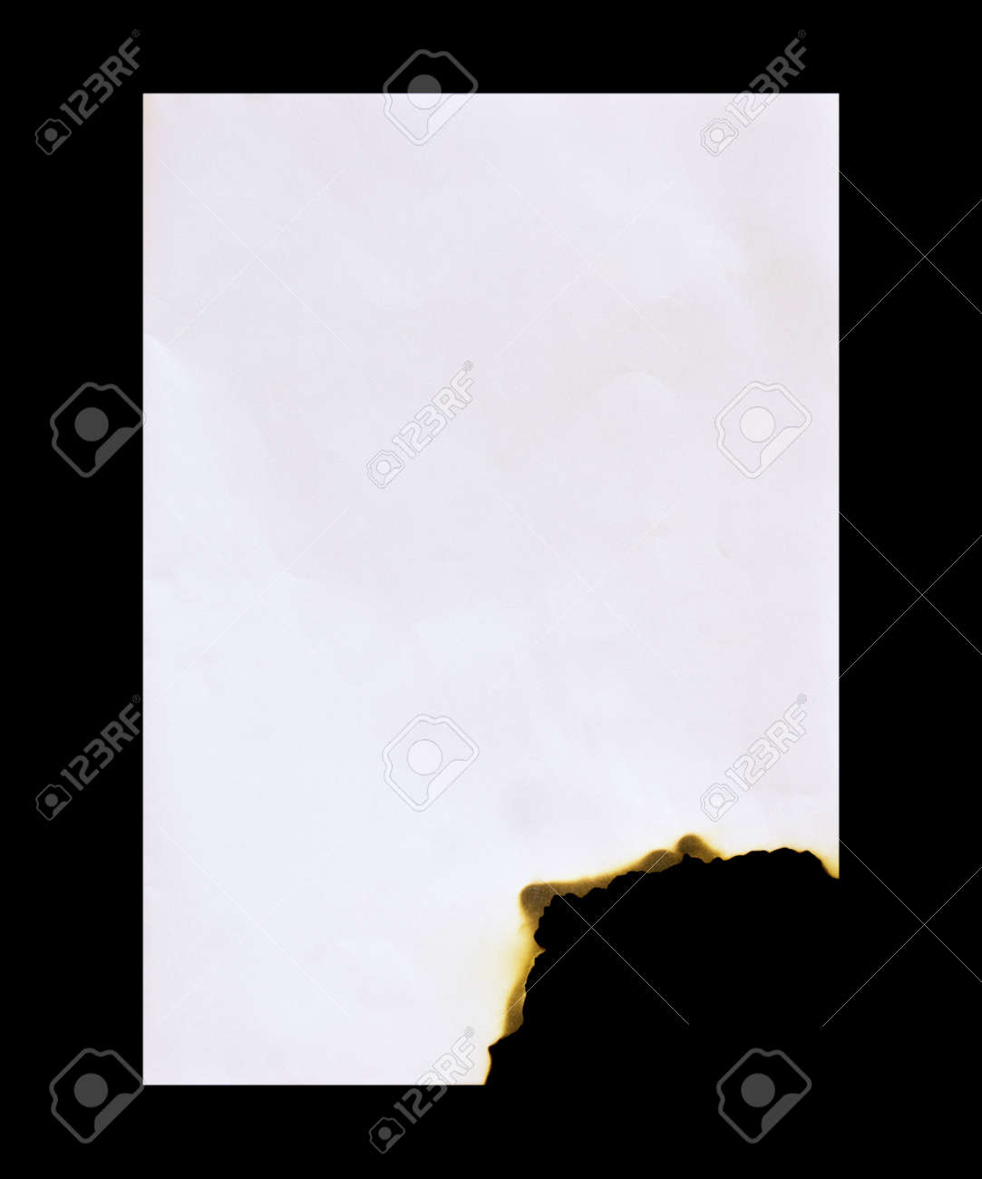 Burned paper on a black  background Stock Photo - 15889447
