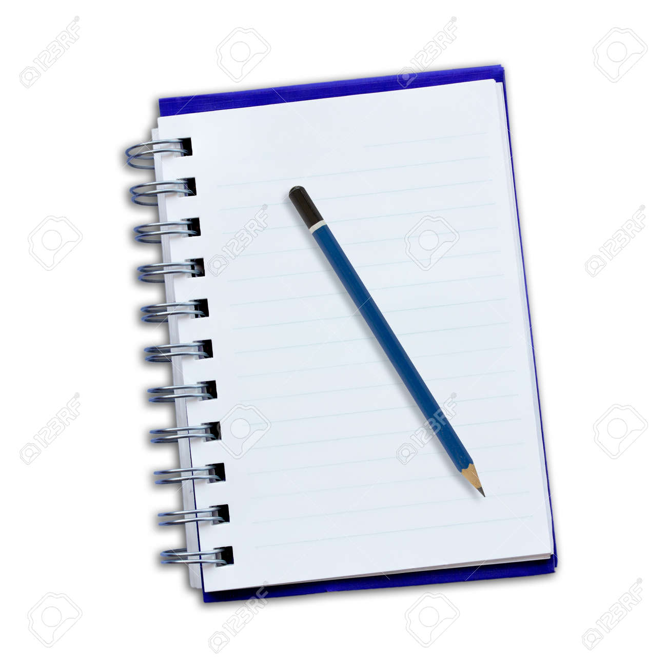 Notepad and pencil on a white background. Stock Photo - 16852832