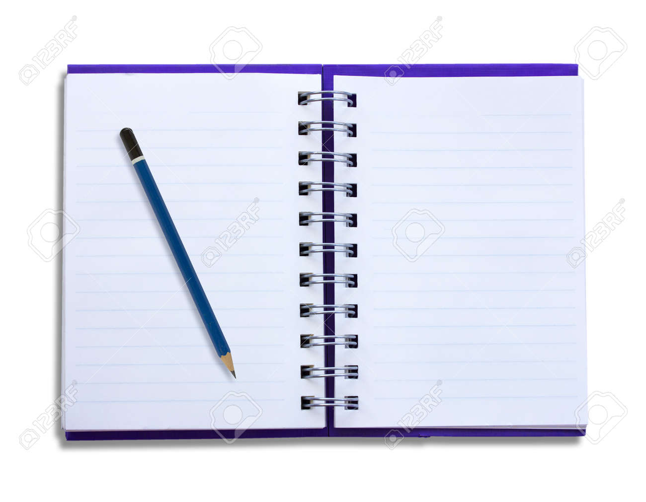 Notepad and pencil on a white background Stock Photo - 17112124