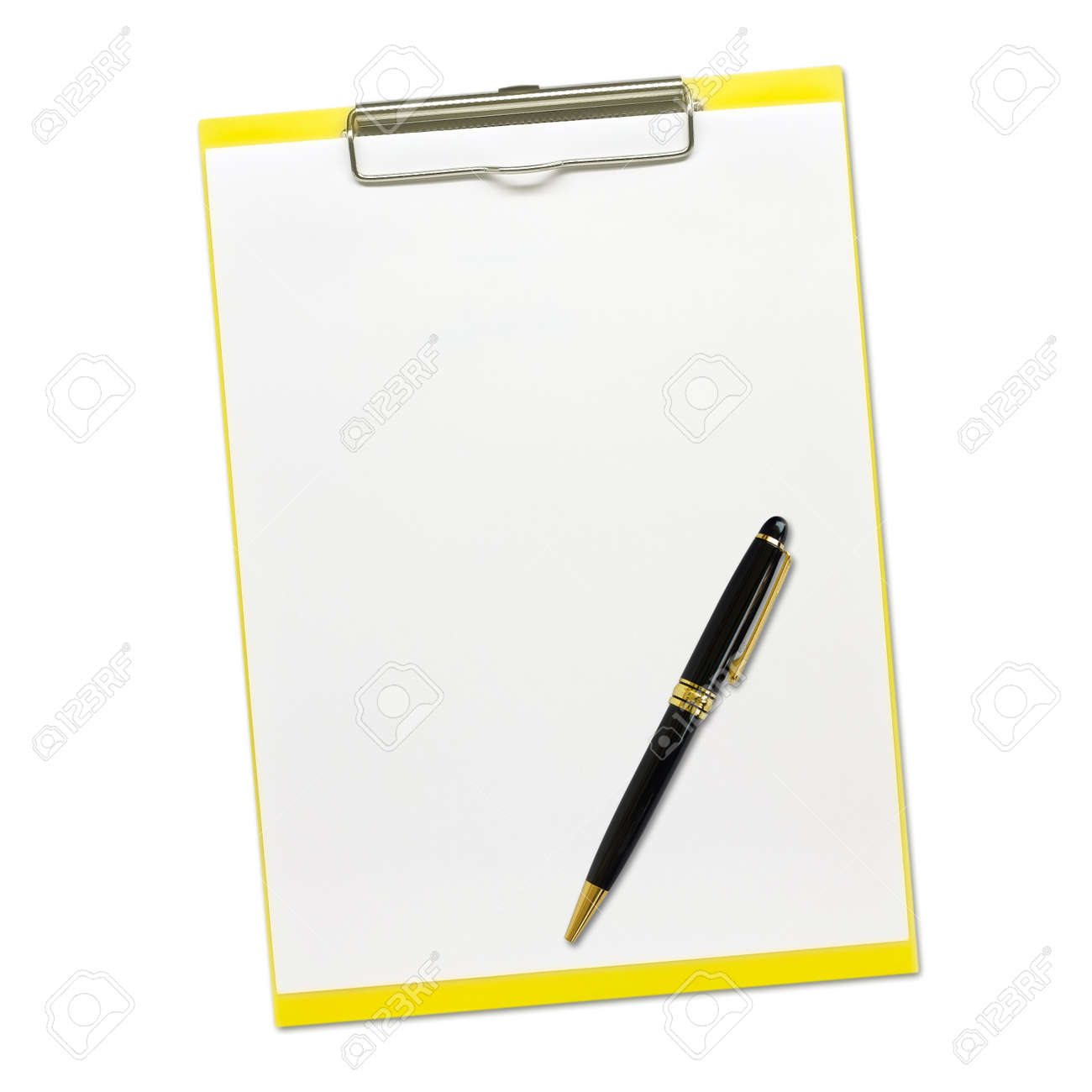Notepad and Pen isolated on white background Stock Photo - 20833074