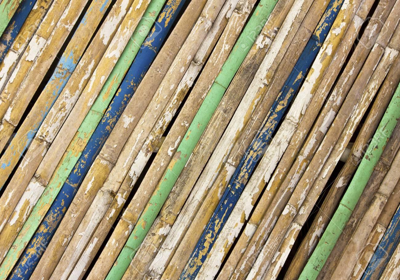 Zaun Bambus der alte zaun bambus, hintergrund lizenzfreie fotos, bilder und