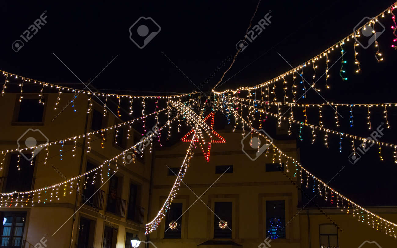 Stern Weihnachtsbeleuchtung.Stock Photo