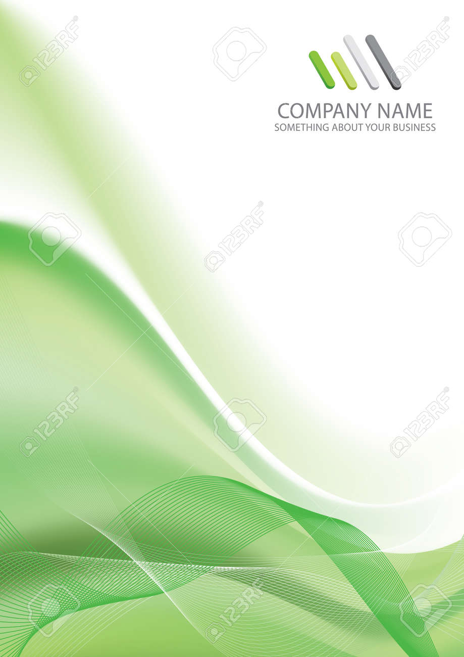 corporate business template background (green wave design) royalty