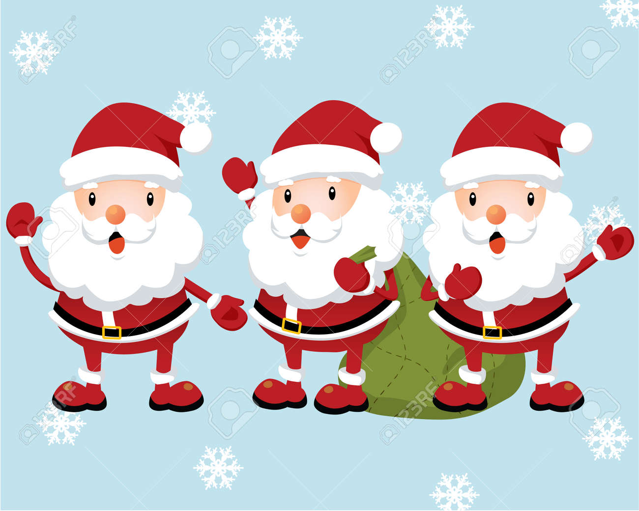 Lovely Santa Claus Stock Vector - 3907186