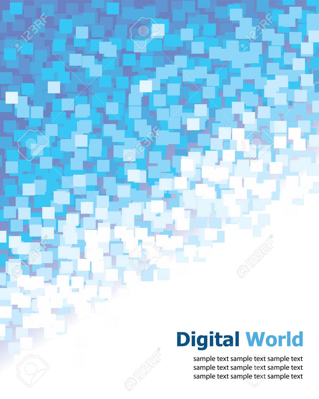 Digital (Blue Pixel) Background Royalty Free Cliparts, Vectors ...