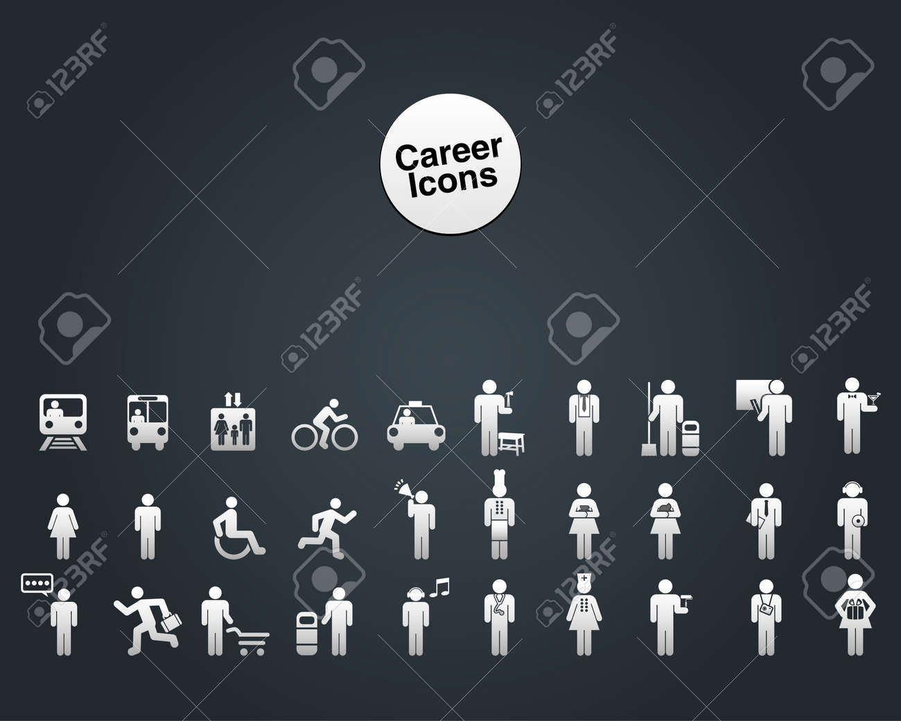 Website and Internet Icons -- People and Career Stock Vector - 19501511