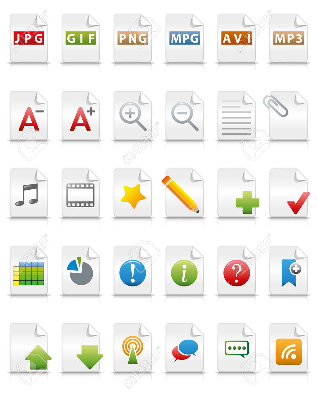 internet icons (document concept) Stock Vector - 19501506