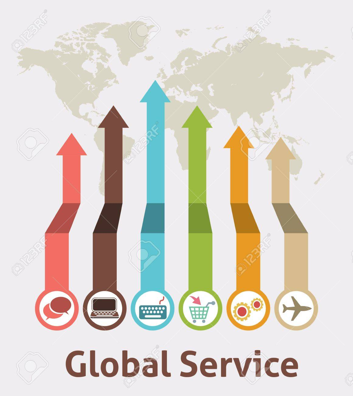 Global Service Idea Infographic Stock Vector - 20325484