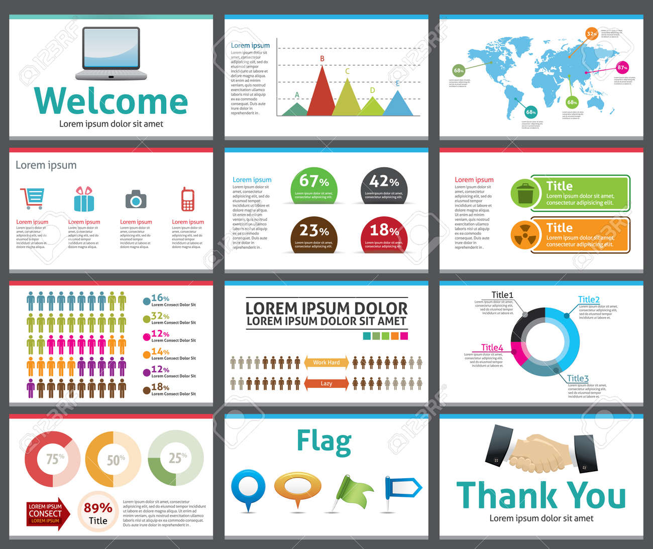 presentation template business company slide show design royalty