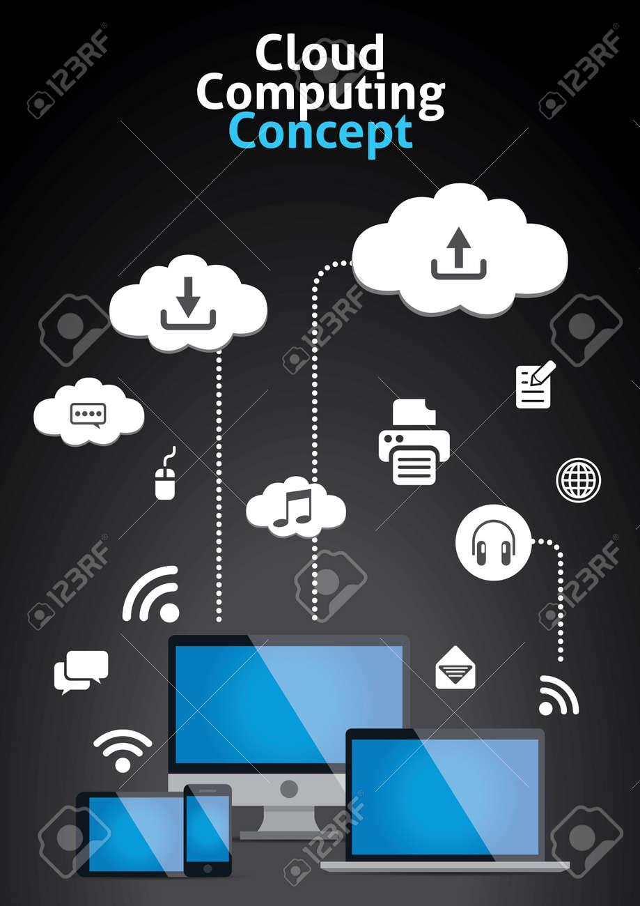 Cloud Computing Concept Vector Illustration Stock Vector - 20466236