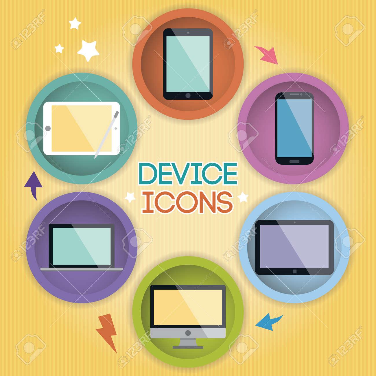 Cartoon Device Icons Stock Vector - 20955410