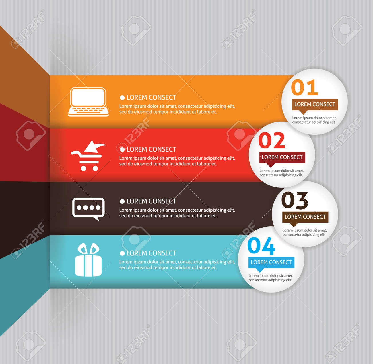 Template for your business presentation with arrows and text areas (info graphic) Stock Vector - 22208346