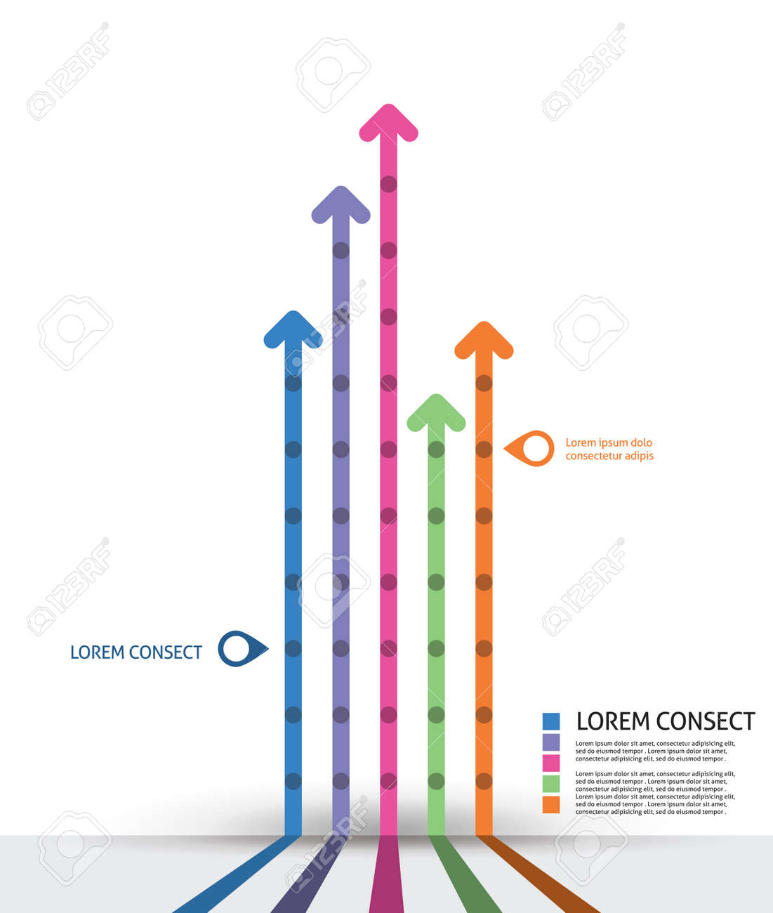 Infographic design template. Idea to display timeline with arrow Stock Vector - 22601717