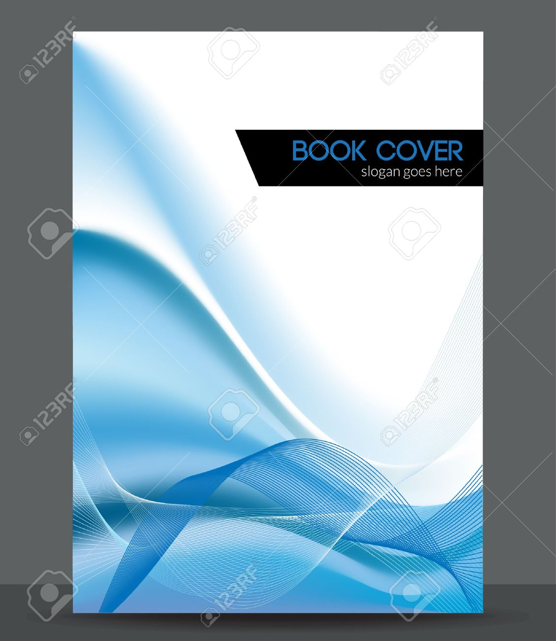 Blue Wave Brochure Booklet Cover Design Template Royalty Free - Brochure booklet templates