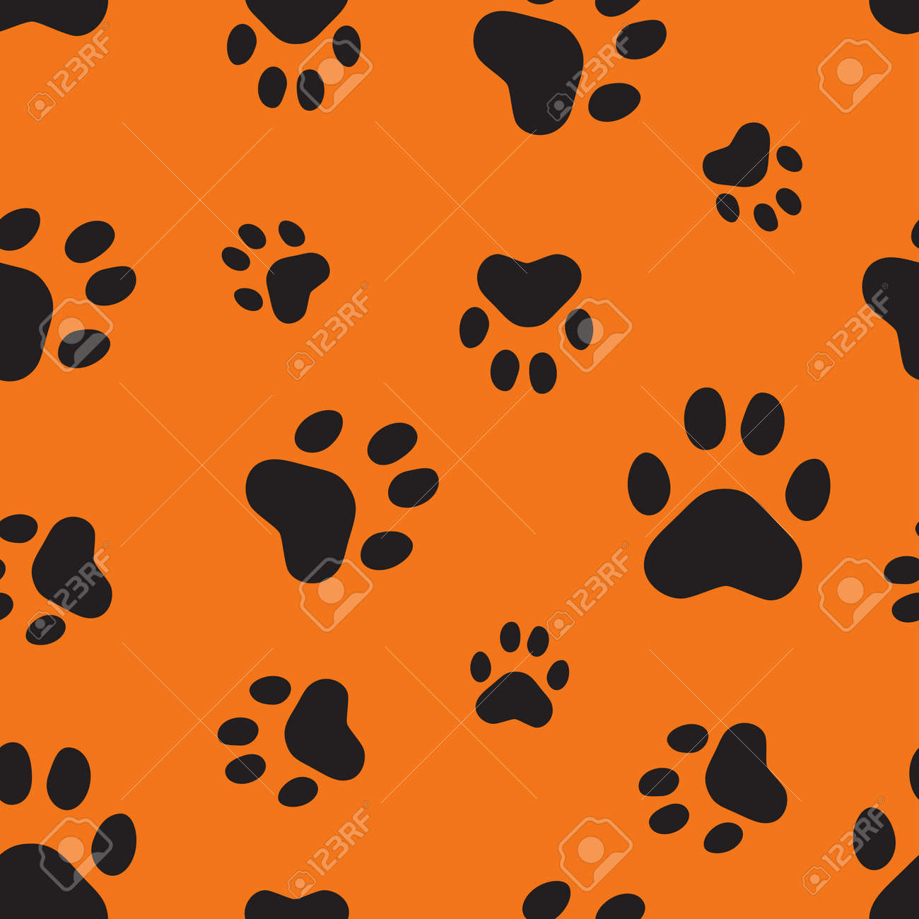 Seamless pattern with animal traces Stock Vector - 6222937