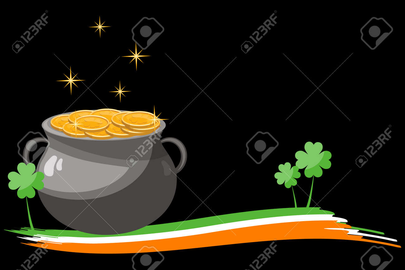 St Patrick's Day postcard Stock Vector - 6654353