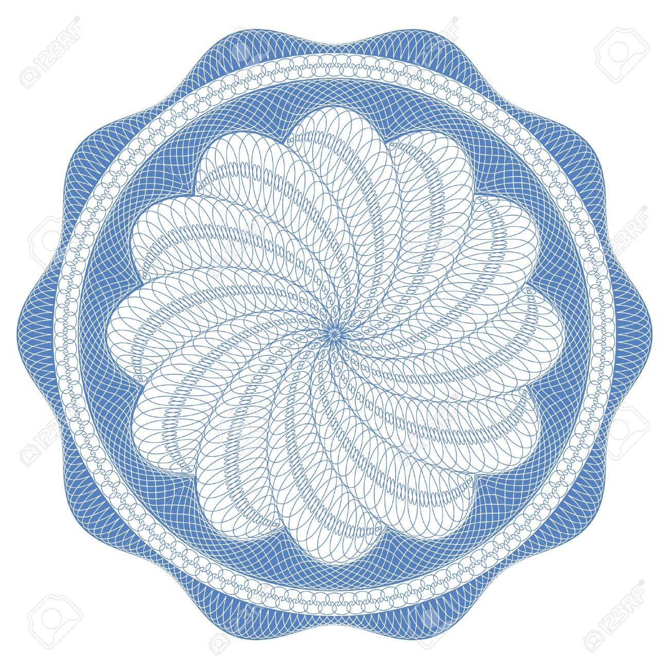 Guilloche rosette,  pattern for currency, certificate or diplomas Stock Photo - 6926460